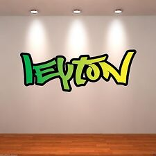 Large Personalised Graffiti Name Full Colour Wall Art Sticker Transfer WSD172