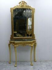 spiegel consol barok met marmeren zwarte AwKs0184Sw