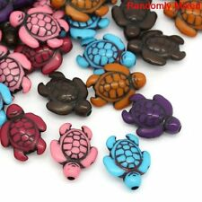 90 Turtle Beads Mixed Acrylic Beads About 18mm with Hole 1.8mm