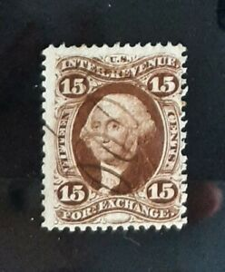 1862-71 15c US Foreign Exchange Revenue Stamp First Issue  #R39c Fine Used