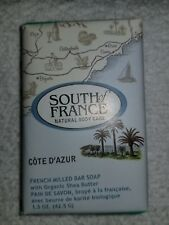 South of France COTE D'AZUR French Milled Bar Soap Organic Shea 1.5 oz/42.5g New