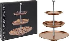 3 Tier Stainless Steel Copper Cake Stand Cupcake Stand Food Serving Stand