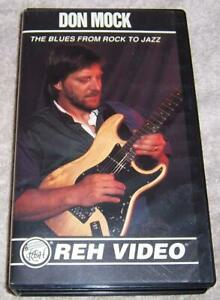 Don Mock The Blues From Rock to Jazz VHS Video how to play guitar