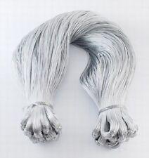 100mtr Cable Metálico Plata 0.8mm de espesor, macramé Kumihimo fabricación de joyas