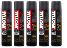 MOTUL A2 OLIO SPRAY FILTRO ARIA MOTO AIR FILTER OIL SPRAY 5 X 400 ml