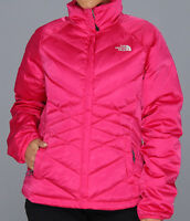 New The North Face Aconcagua Puffy Jacket Women's TNF Down Passion Pink sz Small