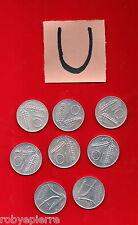 lotto 10 lire 8 monete ITALY COIN 1955 1973 1975 1977 1979 1980 1981 1982 vendo