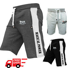 Gym Sweat Fleece Casual Men's Shorts Jogging Bottom Joggers MMA Boxing Fitness