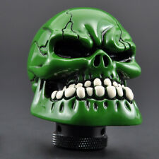 White Teeth Green Skull Head Car Gear Shift Knob w/ Hoses For Hyundai Mini Audi