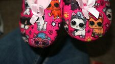 L.O.L Slippers size 9 Little girl toddler lol pets designs Pink non slip Grips