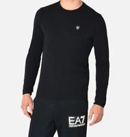 T-shirt Uomo Emporio Armani EA7 6YPTL9 Maglia Cotone Pelle Blu Elastica Nuova