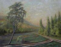 Workshop Janoll Cleeb - Landscape Mountain Oil on Canvas End XIX ° Early Xx Th