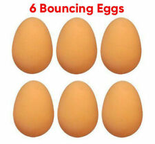 6 Pcs Bouncing Eggs Funny Jumping Toy for Party Joke Fake Rubber Egg Ball Dummy