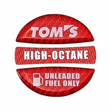 JDM OEM TOM'S TOYOTA Fuel garnish Budge Emblem Red High-octane 86 SUPRA MR-2 F/S
