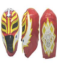 WWE Rey Mysterio Red Mini Wrestling Mask w/ stand. WCW ECW Misterio 619 Boo Yah