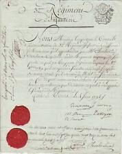 Général de BEAUPUY (tué en protégeant la retraite de MOREAU) autographe