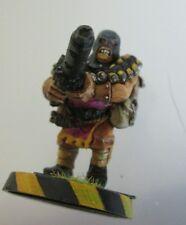 1x Heavy Weapons stubber Cawdor gang ganger Necromunda metal citadel gw fig#B