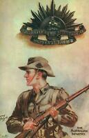 THE AUSTRALIAN INFANTRY SOLDIER ADVERTISING POSTCARD for I.S. WRIGHT - NEW