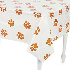 DOG & PUPPY Paw Prints Table Cover Plastic Tablecloth Table Cover 137cm x 180cm