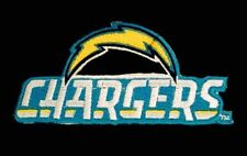 """Los Angeles Chargers Embroidered Patch 4"""" x 2"""" RARE NFL Nice"""