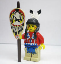 Indian Red Shirt Shield spear 6748 Cowboys Native Western Lego Minifigure Mini