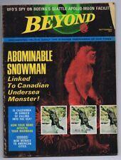 Original Vintage 1969 Beyond Magazine Vol 2 #13 Abominable Snowman