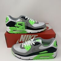 Nike Air Max 90 Running Shoes White Gray Lime CW5458-100 Men's NEW