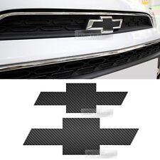 Front Rear Black Carbon Emblem Badge Decal Sticker For CHEVROLET 2017-2018 Spark