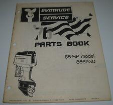 Ersatzteilkatalog Parts Book Evinrude 85 HP model 85693D Stand November 1975