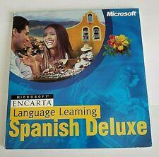 Microsoft Encarta Language Learning Spanish Deluxe X05-81816