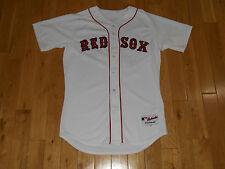 Majestic DAVID ORTIZ White BOSTON RED SOX #34 Mens AUTHENTIC MLB Team JERSEY 44