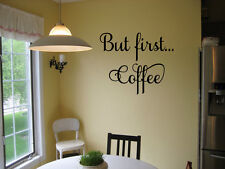BUT FIRST COFFEE VINYL WALL DECAL KITCHEN HOUSE DECOR SIGN LETTERING COFFEE BAR