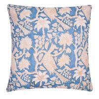 16X16 Cushion Cover Hand Block Print Throw Pillow Case Indian Cotton Decorative