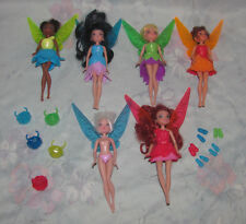 Disney Tinker Bell Periwinkle Fairy Fairies Lot 6 - Rubbery Clothes - 2013 Jakks