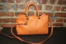 Auth. Marc By Marc Jacobs Too Hot To Handle  Orange Leather Satchel Cross Body