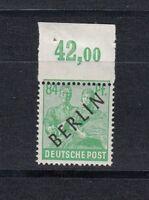 Berlin Mi-Nr. 16 P OR - Oberrand ** postfrisch - Verzähnung