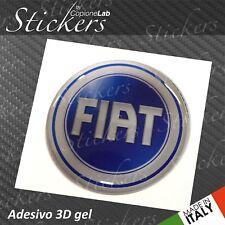 1 Autocollant Stickers Logo Fiat 2001>2006 Résine 3D 30 mm Auto