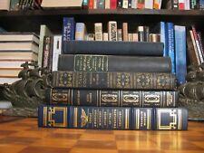 Book Decor-Black Dark Blue Gold Lettering-Antique-Vintage-Distressed-1920's-Lot
