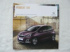 Peugeot 108 - Prospekt Brochure Aktualisierung 08.2015