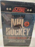 1992-93 Score Hockey Card Factory Sealed Unopened Box Canadian Edition NEW