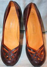 Jeffrey Campbell Women's Brown Textured Leather Pumps Heels Size 11 MINT
