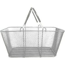Shopping Basket Wire Mesh Convenience Market Gift Store Silver Lot of 12 New