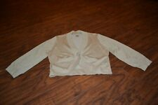 F14- Lucia Burns Gold Metallic Silk Blend Cardigan Sweater Size Medium