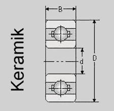 Keramik Kugellager 6902 2RS/C / 15x28x7, 6902 2RS/C Hybrid