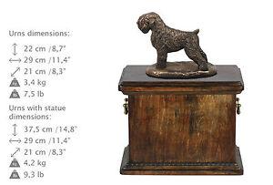 Russische Schwarze Terrier, Urne, Kalte Bronze, ArtDog, DE, Type 2