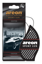Areon Sport LUX Quality Perfume/Cologne Cardboard Car Air Freshener, Silver-12PK