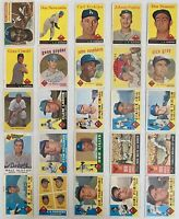 Los Angeles Dodgers 1956-1963 LOT (35 cards, mixed grade): '56 Campanella + HOFs