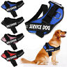 Service Vest Dog Harness Adjustable Patches Reflective Small Large Medium S-2XL
