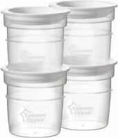 Tommee Tippee Milk Storage Pots for Closer to Nature Bottle - 60 ml - Pack of 4