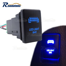 Led Light Bar Push Switch Blue With Wiring Kit For Toyota Tacoma Tundra 4runner